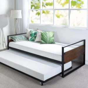 This Daybed Is Slim Simple And Budget Friendly But Don T Let That Fool You Its Hybrid Wood Metal Frame Stylish Sy Enough For Use
