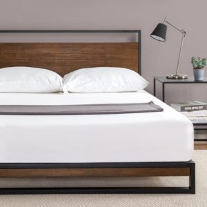 The Zinus Ironline Metal And Wood Platform Bed Is Ranked Highly On Our List